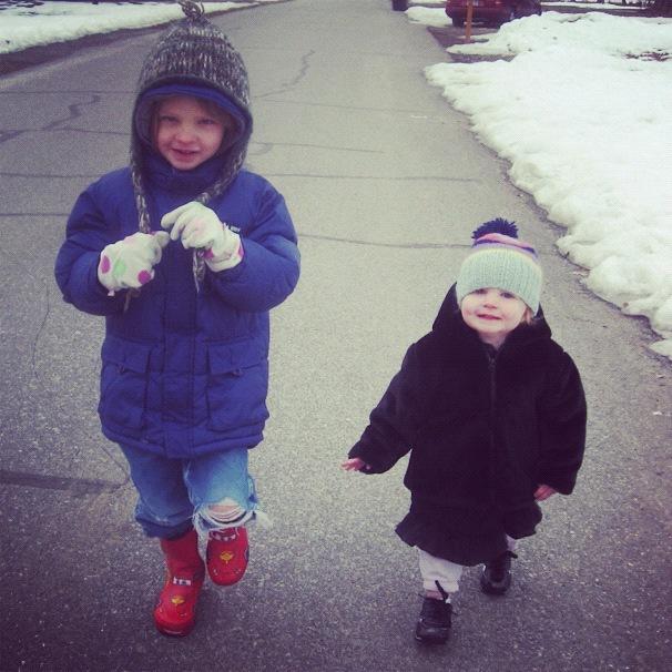 little kids winter walk instagram
