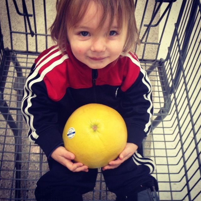 little boy grocery cart fruit instagram