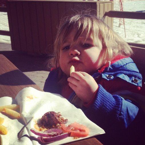 little boy eating instagram