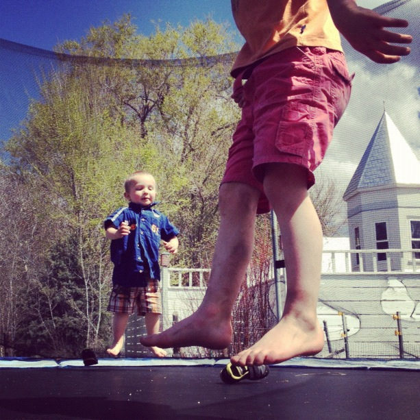 little boys brothers jumping trampoline instagram