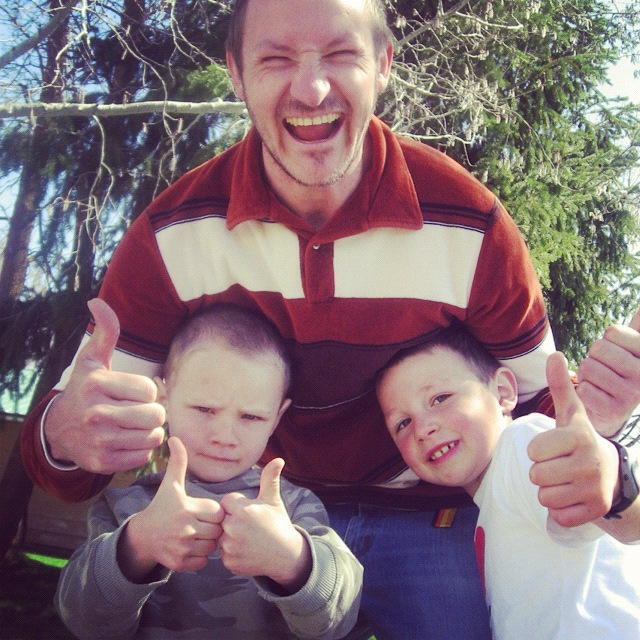 man sons thumbs up instagram
