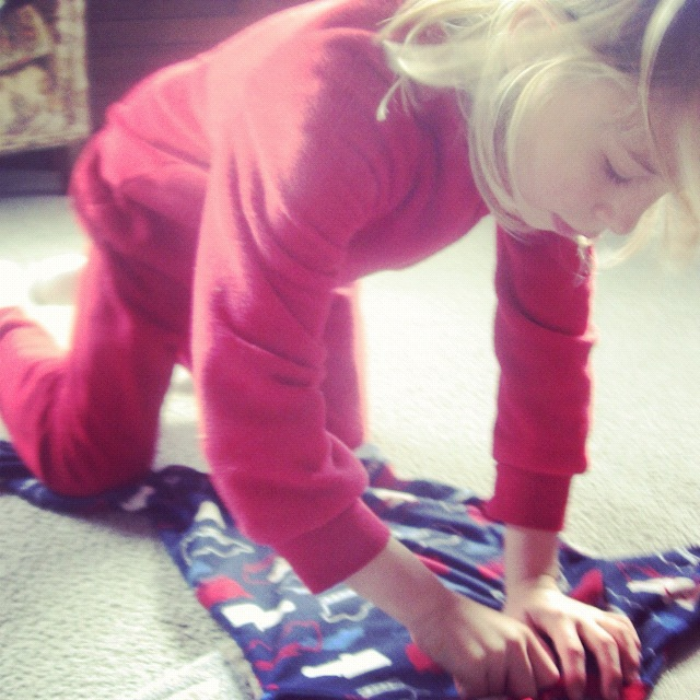 little girl folding laundry instagram