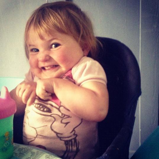baby girl funny face instagram