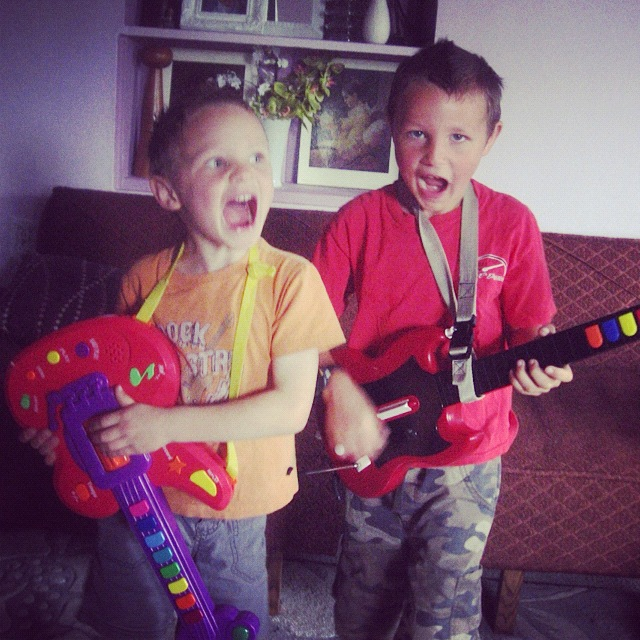 little boys guitars rock band instagram