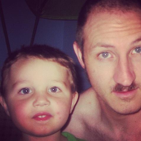 dad son haircuts instagram